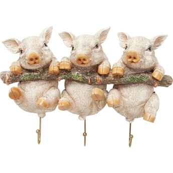 Wieszak ścienny Three Mini Pigs 30x21 cm