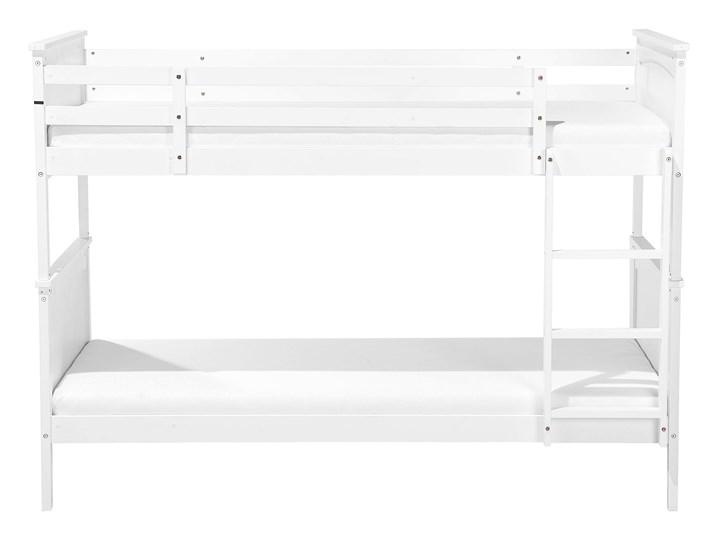Łóżko dziecięce piętrowe białe drewniane z drabinką 90 x 200 cm Skandynawski design Łóżko piętrowe Rozmiar materaca 90x200 cm Drewno Kategoria Łóżka dla dzieci