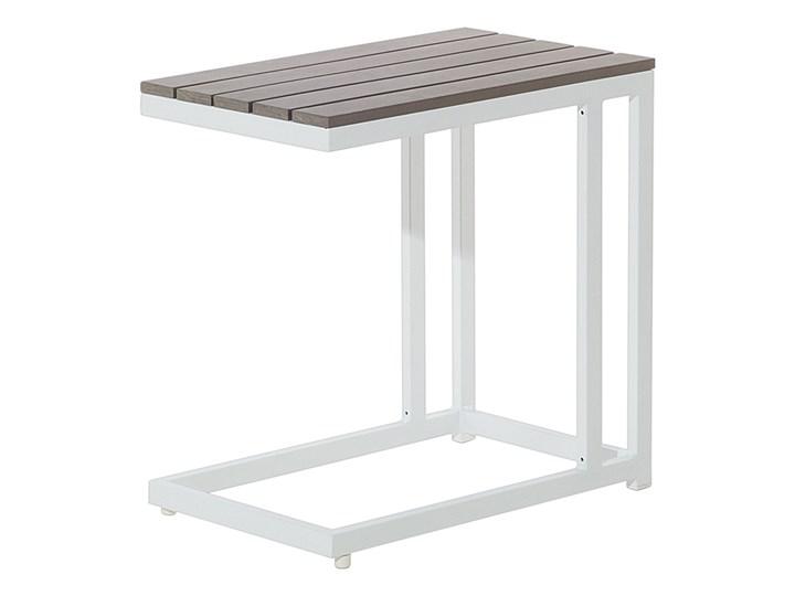 Zestaw mebli ogrodowych 6-osobowy biały aluminium zielone poduszki narożnik pufa stół stolik Zestawy modułowe Zawartość zestawu Sofa Tworzywo sztuczne Zestawy wypoczynkowe Styl Nowoczesny