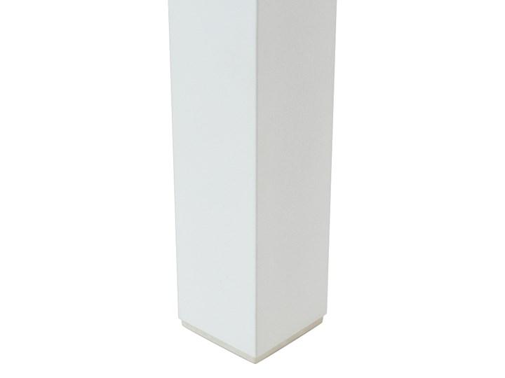 Zestaw mebli ogrodowych 6-osobowy biały aluminium zielone poduszki narożnik pufa stół stolik Tworzywo sztuczne Zestawy modułowe Zestawy wypoczynkowe Kolor Zielony