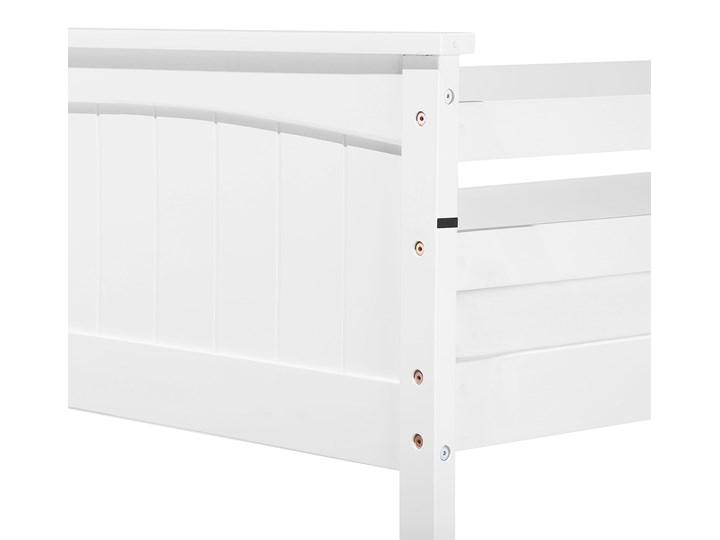 Łóżko dziecięce piętrowe białe drewniane z drabinką 90 x 200 cm Skandynawski design Drewno Łóżko piętrowe Kategoria Łóżka dla dzieci