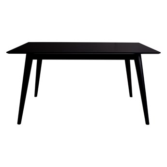Czarny stół do jadalni House Nordic Copenhagen, 150x95 cm