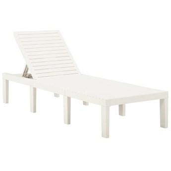vidaXL Leżak plastikowy, biały