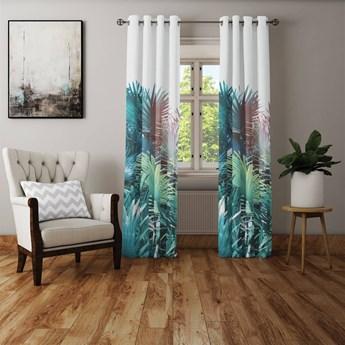 Zasłona - gotowa do salonu, sypialni Indyjskie palmy