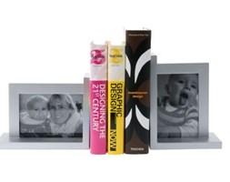 Podpórka pod książki z ramką, srebrna - Darmowa dostawa do ponad 190 salonów empik!