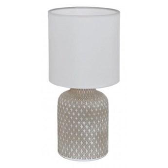 97774 BELLARIVA oprawa stołowa ceramika szary / tkanina biały LAMPA EGLO