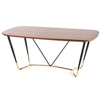 Elegancki stół do salonu Lever - orzech