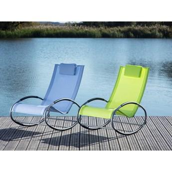 Beliani Krzesło Ogrodowe Bujane Zielone Campo