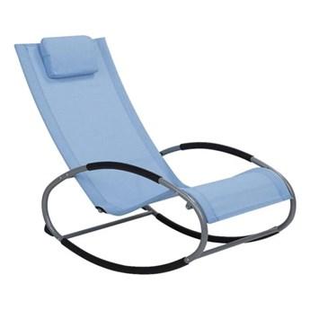 Beliani Krzesło Ogrodowe Bujane Niebieskie Campo