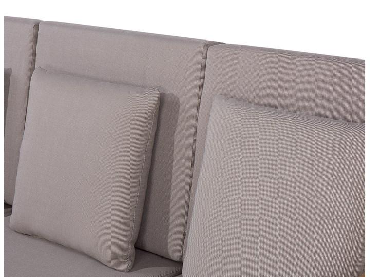 Zestaw ogrodowy brązowy jasne drewno akacjowe 2 ławki 1 fotel 1 leżak 1 stół poduchy retro Zestawy wypoczynkowe Styl Nowoczesny Zestawy kawowe Tworzywo sztuczne Zawartość zestawu Fotele