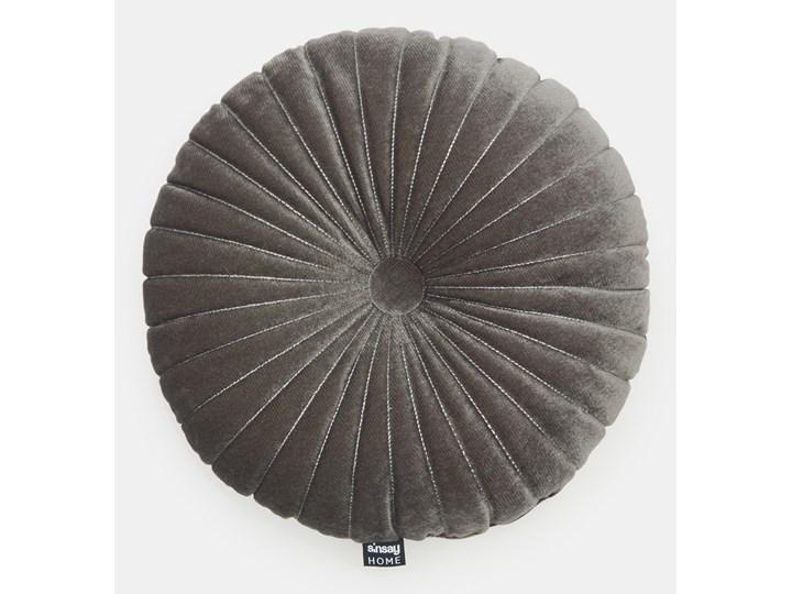 Sinsay - Poduszka Ø 36 cm - Szary Poduszka dekoracyjna Okrągłe Kategoria Poduszki i poszewki dekoracyjne