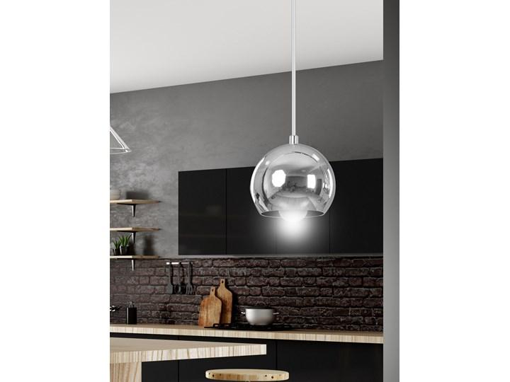 BALL 1 CHROME 404/1 chromowana kula wisząca super efekt Metal Lampa kula Lampa z kloszem Styl Nowoczesny