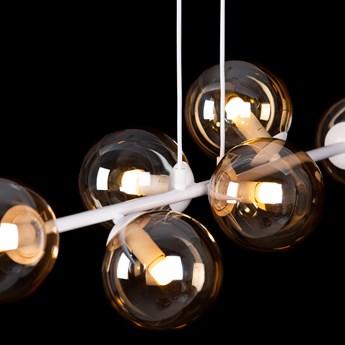 ROSSI 6 WH MIODOWY 879/6 lampa sufitowa wisząca biała miodowe klosze