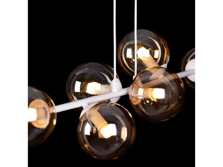 ROSSI 6 WH MIODOWY 879/6 lampa sufitowa wisząca biała miodowe klosze Metal Lampa z kloszem Styl Nowoczesny Lampa LED Szkło Kolor Biały