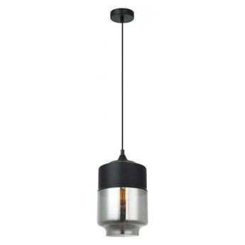 MOLINA 1 lampa wisząca 1 x 40W E27 szklany klosz czarna dymna nowoczesna minimalistyczna design ITALUX MDM-2377/1 BK+SG