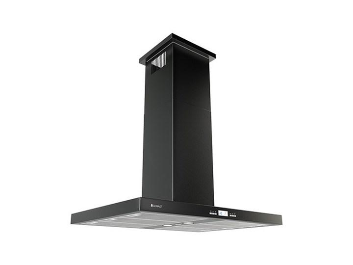 Okap kuchenny Nomina Isola 90.4 Sensor Black Okap wyspowy Szerokość 90 cm Poziom hałasu 64 dB