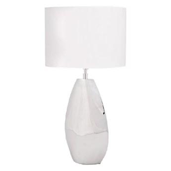 Lampa BIKAR na komodę z białym abażurem