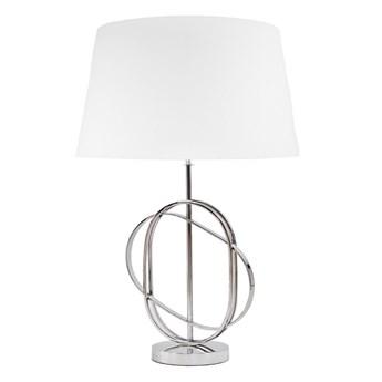 Lampa SAIPAN w stylu glamour z białym abażurem