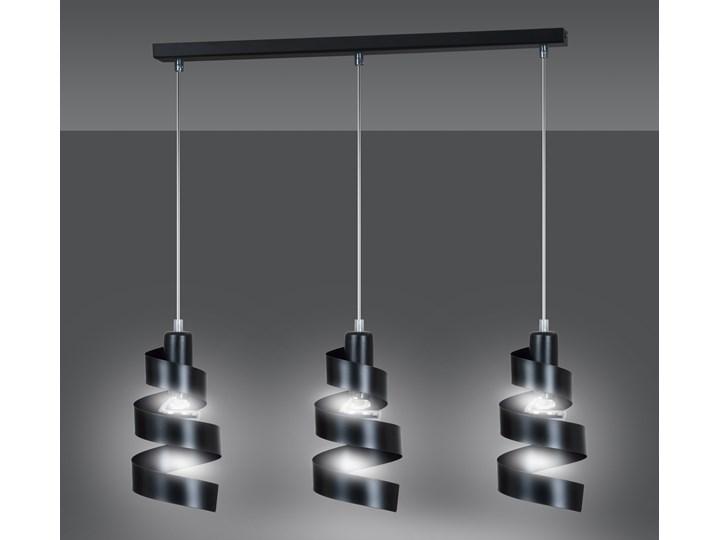 SAGA 3 BLACK 352/3 lampa wisząca sufitowa najnowszy design czarna Metal Kolor Czarny