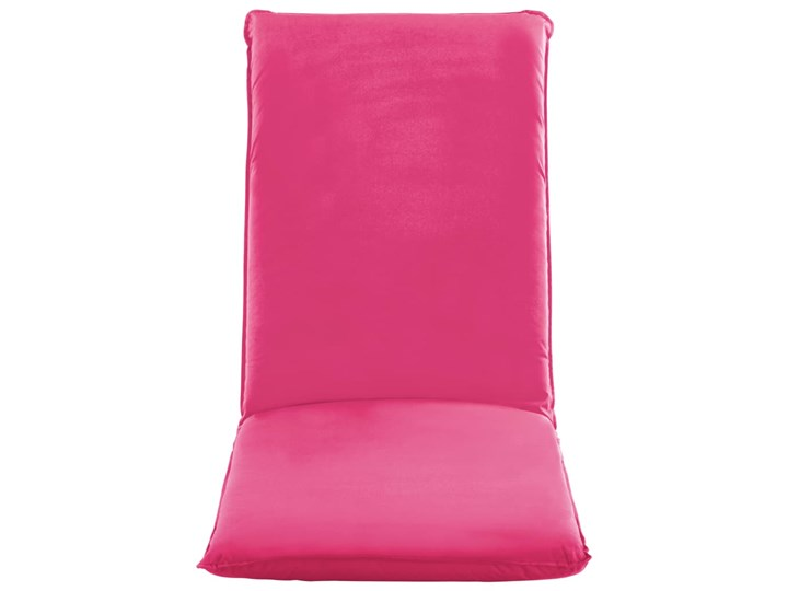 vidaXL Składany leżak obity tkaniną Oxford, różowy Metal Składane Kategoria Leżaki ogrodowe