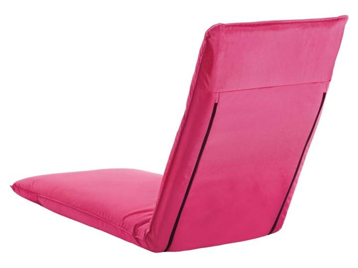 vidaXL Składany leżak obity tkaniną Oxford, różowy Składane Metal Kategoria Leżaki ogrodowe