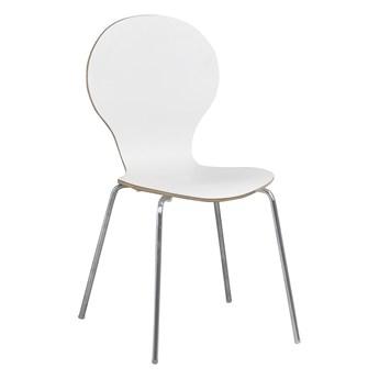 Krzesło Fusione 50x87 cm białe-srebrne