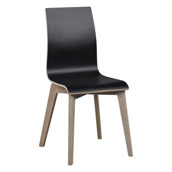 Krzesło Gracy 48x89 cm czarne-bielone