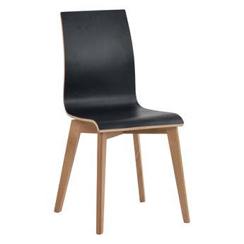 Krzesło Gracy 48x89 cm czarne-naturalne