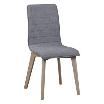 Krzesło Gracy 48x89 cm jasnoszare-bielone