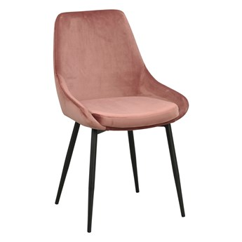 Krzesło Sierra 49x85 cm różowe aksamit