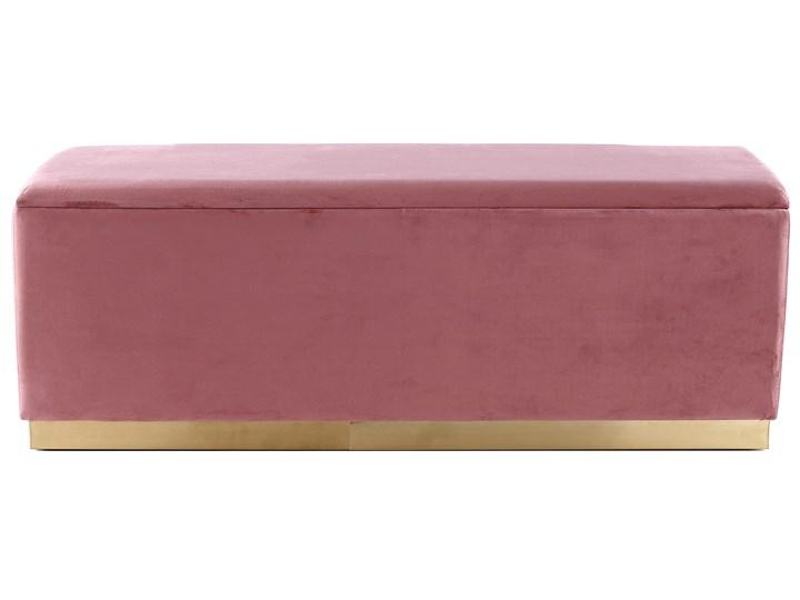 Ławka Cherry 120x42 cm różowa Materiał obicia Tkanina