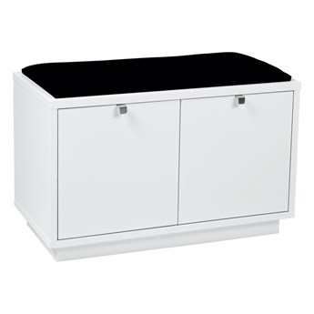 Ławka Confetti 70x45 cm biała-czarna