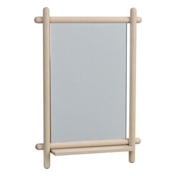 Lustro z półką 52x74 cm bielone