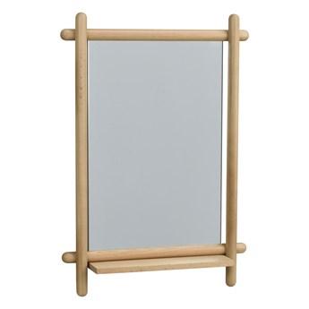 Lustro z półką 52x74 cm naturalne