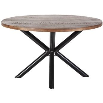 Stół Mango Ø150 cm drewniany nogi czarne