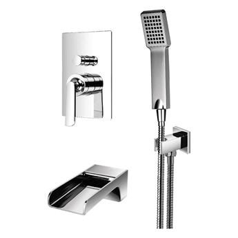Cascade zestaw prysznicowo-wannowy podtynkowy chrom SYSCAW01CR