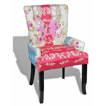 Pikowany fotel patchworkowy -Tilia