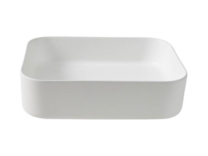 Umywalka nablatowa GoodHome Tekapo 45 x 35 x 12 cm biała Narożne Prostokątne Nablatowe Podwieszane Szerokość 45 cm Kolor Biały Kategoria Umywalki