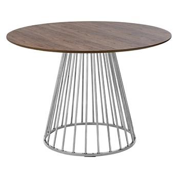 Fornirowany stół na drucianej podstawie Glam Walnut 110
