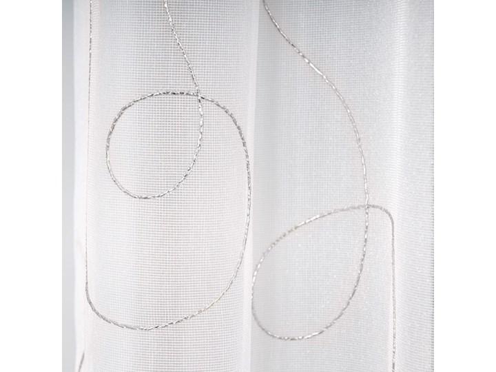 Gotowa firana z srebrnym wzorem  056138 Kategoria Firany