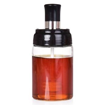 250 ml szklany słoik na miód MIODOMAT ze zintegrowaną miodołyżeczką