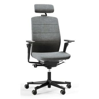 Skandynawski fotel biurowy z zagłówkiem ergonomiczny Kinnarps Capella