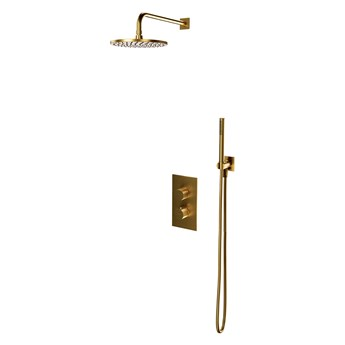 Contour system prysznicowy podtynkowy termostatyczny złoty szczotkowany SYSCT11GLB