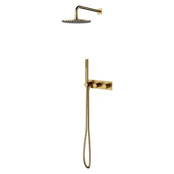 Contour system prysznicowy podtynkowy złoty szczotkowany SYSCT10GLB