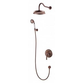 Zestaw prysznicowy Armance z deszczownicą miedź antyczna SYSAM10ORB