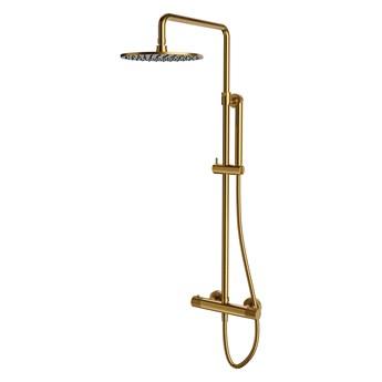 Contour system prysznicowy natynkowy termostatyczny złoty szczotkowany CT8044GLB