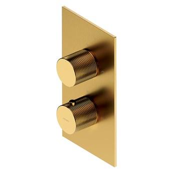 Contour bateria wannowo-prysznicowa podtynkowa termostatyczna złoty szczotkowany CT8036GLB