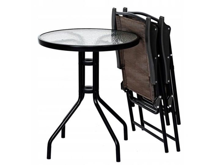 Meble ogrodowe zestaw stół i 2 krzesła Stoły z krzesłami Stal Zawartość zestawu Stolik Styl Nowoczesny