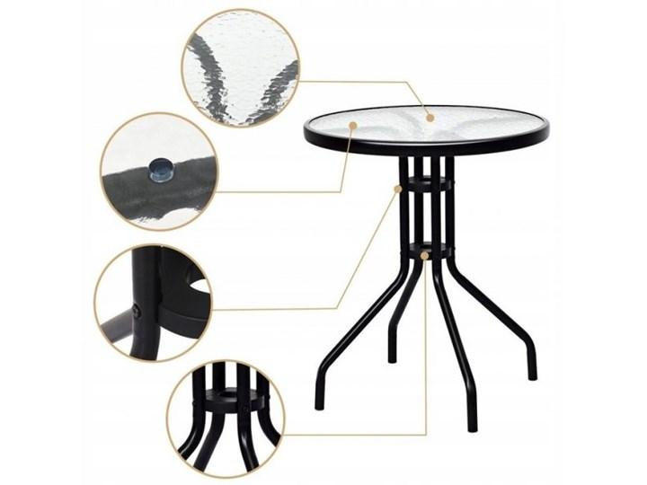 Meble ogrodowe zestaw stół i 2 krzesła Stoły z krzesłami Styl Nowoczesny Stal Zawartość zestawu Stolik