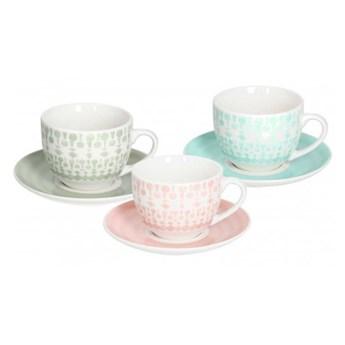 Komplet filiżanek do herbaty z podstawkami Tognana Gipsy Soft - 6 szt.